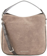 MICHAEL Michael Kors Heidi Suede Shoulder Bag Grey