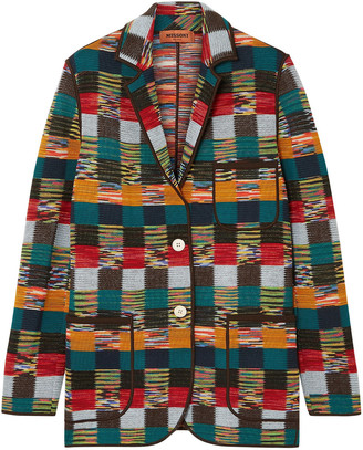 Missoni Checked Crochet-knit Wool Jacket