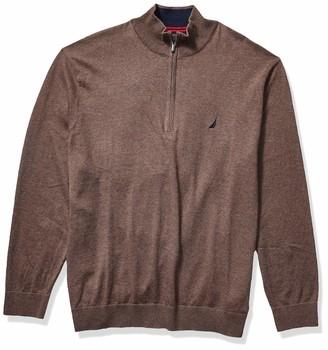 Nautica Men's Big Navtech Quarter-Zip Sweater
