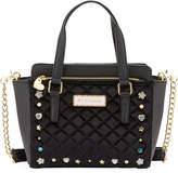 Betsey Johnson Winged Medium Embellished Satchel Bag