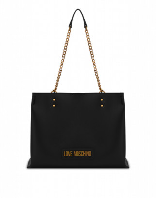 Love Moschino Shopper With Lettering Logo Woman Black Size U It - (one Size Us)