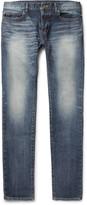 Saint Laurent - Skinny-fit 15cm Hem Washed Stretch-denim Jeans