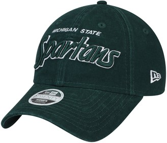 New Era Women's Green Michigan State Spartans Retroscript 9TWENTY Adjustable Hat