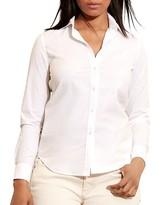 Lauren Ralph Lauren Plus Stretch Cotton Button Down Shirt