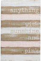 Mud Pie Pink Wooden Plaque