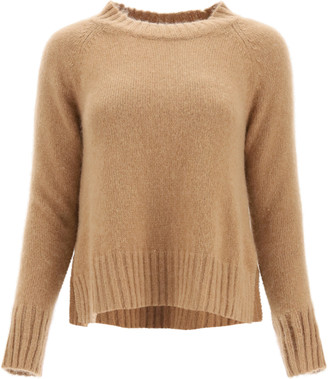 S Max Mara 'S MAX MARA CAIO CASHMERE AND MOHAIR SWEATER L Beige, Brown Cashmere