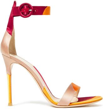 Gianvito Rossi Color-block Satin Sandals