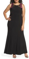 Alex Evenings Plus Size Women's Embellished Sheath Gown
