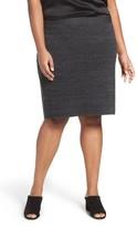 Eileen Fisher Plus Size Women's Sleek Tencel Blend Interlock Knit Skirt