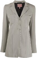 Romeo Gigli Pre Owned 1990s slim-fit checked blazer