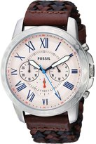 Fossil Men's FS5298 Grant Chronograph Multi-Colored Leather Watch