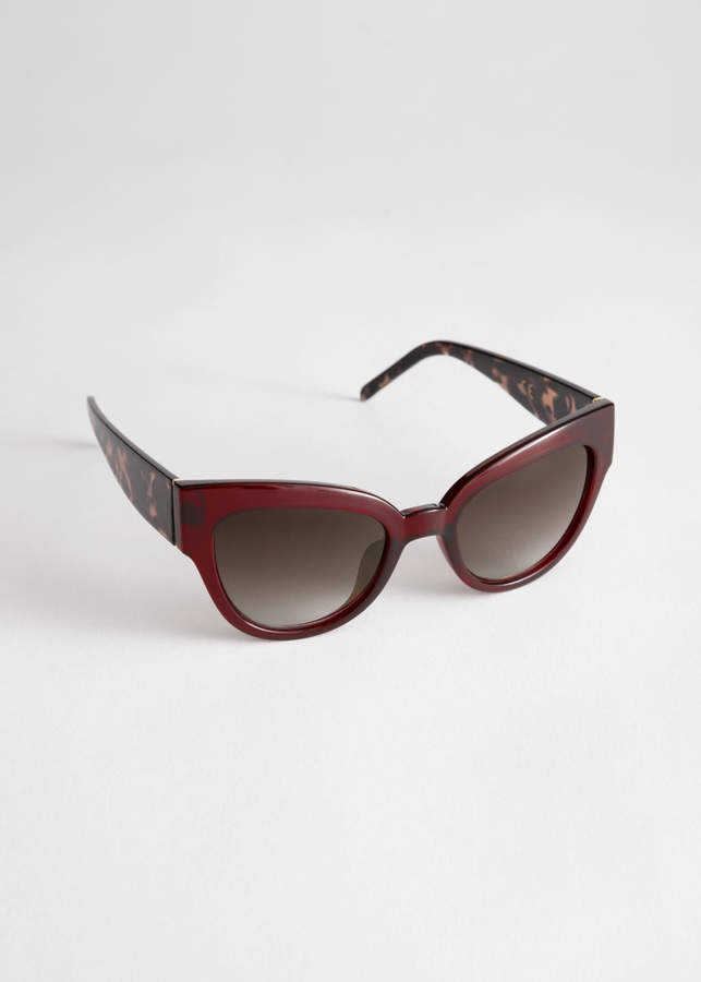84bf18d6f4c5e Tortoise Thick Frame Sunglasses - ShopStyle