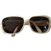Saint Laurent White Sunglasses