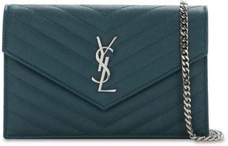 Saint Laurent Sm Monogram Quilted Leather Bag