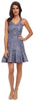 Rebecca Taylor Foil Halter Dress