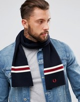 Fred Perry Merino Wool Scarf Navy