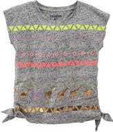 Osh Kosh Oshkosh Short-Sleeve Heather Side-Tie Tee - Toddler Girls 2t-5t