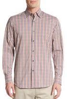 Saks Fifth Avenue Regular-Fit Multi-Check Cotton-Blend Sportshirt