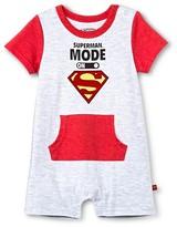 Superman Newborn Boys' Romper - Grey & Red