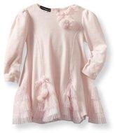 Kate Mack Baby-Girls Infant Left Bank Velour Dress