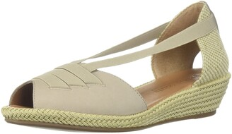 Gentle Souls by Kenneth Cole Women's Luci Wedge Sandal with Elastic Strap Details Sandal