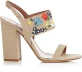 Tabitha Simmons Senna Meadow embroidered linen sandals