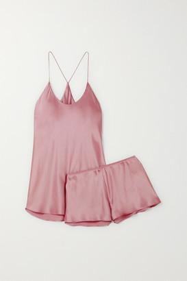 Olivia von Halle Bella Silk-satin Pajama Set - Lavender