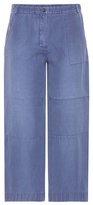 Burberry Cropped Wide-leg Trousers