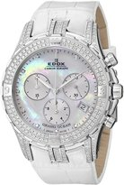 Edox Women's 10404 3DB NAD Grand Ocean Chronograph Mother of Pearl Diamond Watch