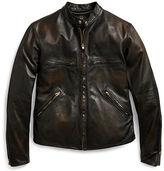 Ralph Lauren RRL Slim Fit Leather Jacket