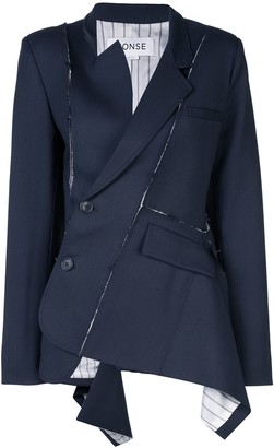 Monse deconstructed wrap-around blazer