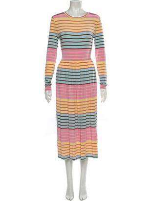 Stine Goya Striped Midi Length Dress w/ Tags Yellow