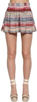 Missoni HIGH WAIST VISCOSE KNIT LAME SHORTS