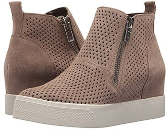 Steve Madden Wedgie-P Sneaker (Light Grey Suede) Women's Shoes