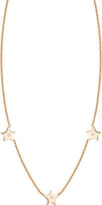 Ariana Rabbani 14K Rose Gold Diamond Three Stars Necklace