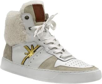 Ross & Snow Diamond Water Resistant Genuine Shearling Sneaker