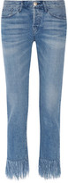 3x1 Wm3 Crop Fringe Mid-rise Straight-leg Jeans - Mid denim