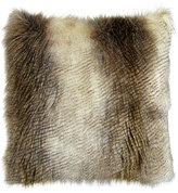 Horchow Forester Alaska Hawk Faux-Fur Pillow