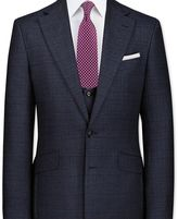 Charles Tyrwhitt Navy slim fit check business suit jacket