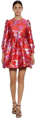 MSGM Floral Brocade Mini Dress