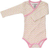 Petunia Pickle Bottom Pink Dainty Daisies Organic Cotton Long-Sleeve Bodysuit