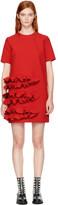 MSGM Red Ruffle Dress