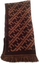 Fendi Brown Wool Scarf pocket square