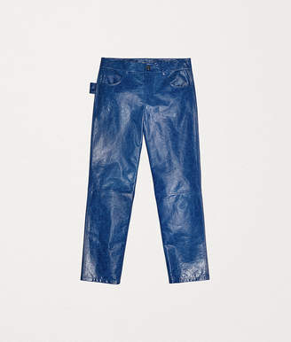 Bottega Veneta PANTS IN MIRRORED CALF