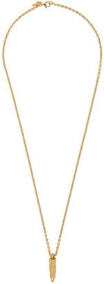 Emanuele Bicocchi Gold Bullet Necklace