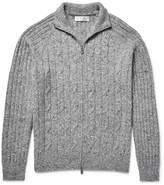 Brunello Cucinelli - Mélange Cable-knit Zip-up Cardigan