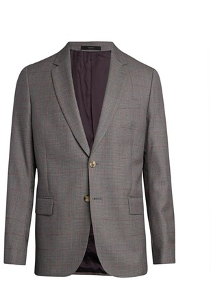 Paul Smith Overcheck Soho Wool Suit Jacket