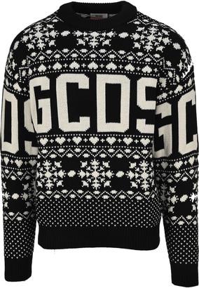 GCDS Snowflake Intarsia Jumper