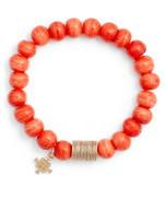 Akola Dyed Bone Beaded Stretch Bracelet