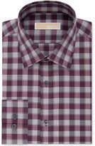 MICHAEL Michael Kors Men's Classic Non-Iron Fit Red Check Dress Shirt
